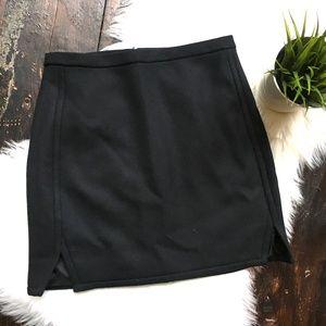 J. CREW Black 100% Wool Mini Skirt 4 EUC